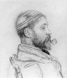 Alfred Parsons 1847 - 1920 Self Portrait